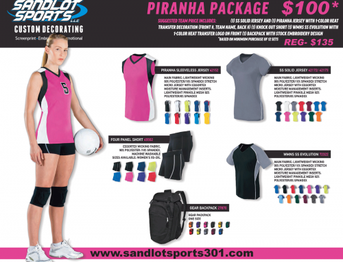2018 Piranha Package $100