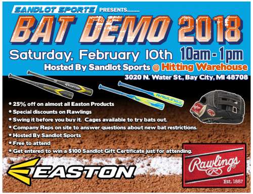 Easton and Rawlings Bat Demo