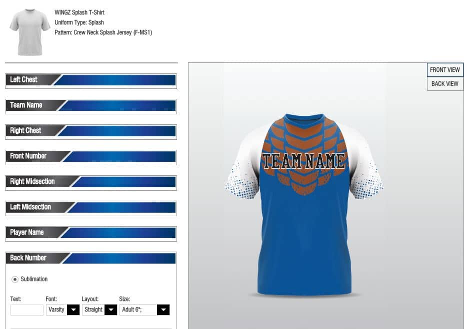 Sublimation, Team Uniforms