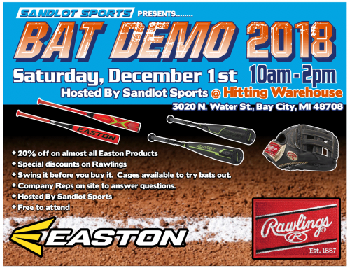 Winter Easton and Rawlings Bat Demo