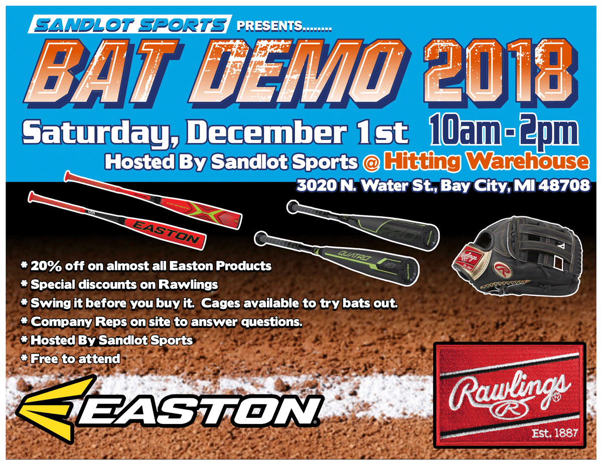 Winter Easton and Rawlings Bat Demo | Sandlot Sports